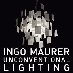 Originality is not just a goal for designers, it is a real life attitude. #IngoMaurer makes the most original, particular and unconventional lights ever. Just take a look: we bet you'll get amazed.