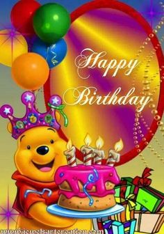 Best Birthday Quotes : Happy Birthday – Whinny the Pooh birthday quotes birthday greetings birthday images birthday quotes birthday sister birthday wishes Happy Birthday For Her, Birthday Wishes For Kids, Happy Birthday Wishes Images, Happy Birthday Celebration, Birthday Blessings, Happy Birthday Pictures, Happy Birthday Quotes, Happy Birthday Greetings, Disney Happy Birthday Images