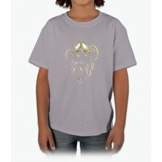 Viking T-Shirt Old Norse Scandinavian Warrior Design Art Tee Young T-Shirt