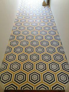 popham design hex target handmade cement tiles