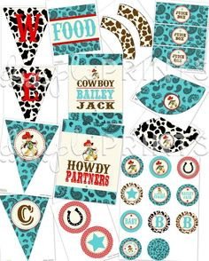 cowboy baby shower #Dimpleprints Etsy shop