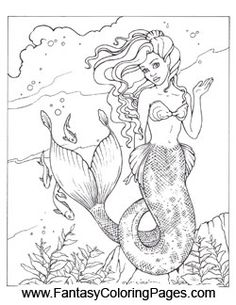 Realistic Mermaid Coloring Pages | coloring pages | coloring ...