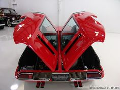 1969 DE TOMASO MANGUSTA JUST COMPLETED RESTORATION WITH FULL ENGINE REBUILD! GORGEOUS RED WITH BLACK LEATHER INTERIOR! ONE OF 401 PRODUCED! LESS THAN 250 KNOWN TO SURVIVE, EVEN FEWER IN THIS CONDITION! BELIEVED TO BE...