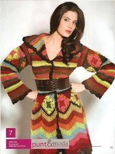 TRICO y CROCHET-madona-mía: Abrigo largo a Crochet para expertas modelo