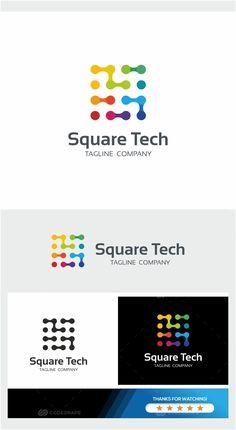 Cell Phones Without A Contract Typo Logo, Logo Branding, Branding Design, Mobile Phone Logo, Computer Logo, Square Logo, Software, Star Wars, Geometric Logo