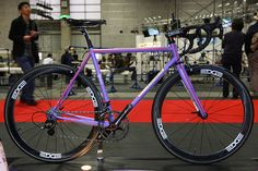 Purple IF by yatsugatake bicycle studio, this is just absolutely lovely. Purple is such a great colour for a bike, thanks Gary Klein.