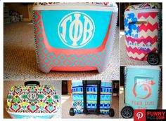 Hand Painted Cooler 12 or 28 quarts by thegirlsinpearls on Etsy