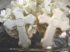 Cross Cookies  Communion   Baptism   Confirmation by sugarplumtea, $2.95