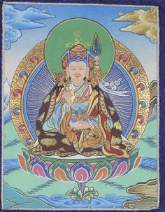 Mini Guru Rinpoche Thangka - Mini Thangkas by Tibetan Treasures