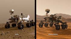 Two Rovers to Roll on Mars Again: Curiosity and Mars 2020 Space Planets, Space And Astronomy, Mars, Science Tools, Atlas, Galaxy Space, Robotics, Outer Space, Curiosity
