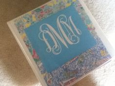 Free printable monogram + Free Lilly Facebook Prints = a much more fun binder! Thanks for the tip katie :)