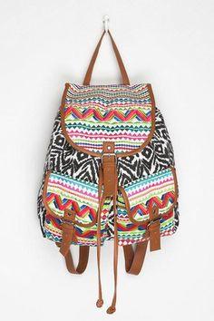 bolso con diseño tribal de colores primarios!