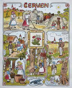 Seasons Months, Four Seasons, Typography Prints, Cute Illustration, Textile Design, Illustrators, Needlework, Vintage World Maps, How To Draw Hands