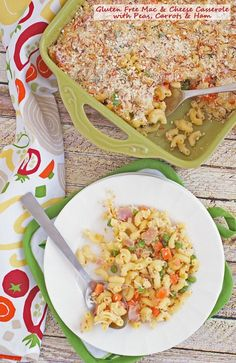 Get this recipe for Gluten Free Mac & Cheese Casserole with Peas, Carrots & Ham at This Mama Cooks! On a Diet #ad
