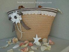Capazo en paja realizado por bordarycrear.blogspot.com