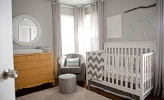 Neutral grey baby nursery
