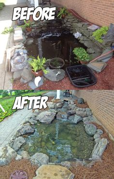 Fabulous 20 Small Front Yard Garden With Fish Pond Ideas Small Front Yard Landscaping, Pond Landscaping, Landscaping With Rocks, Backyard Water Feature, Ponds Backyard, Garden Pond Design, Landscape Design, Fish Pond Gardens, Diy Pond