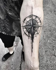 sketch tattoo - compass