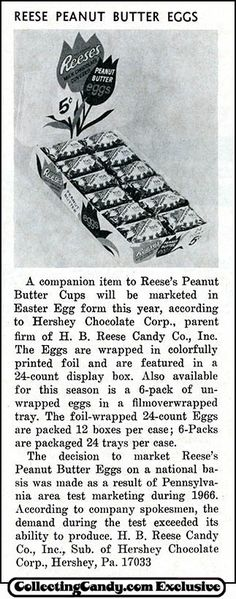 The First Reese's Peanut Butter Egg Ad - February 1967