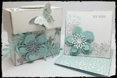 Box for 3x3 cards & envelopes using Botanical Blooms (For Gloria)