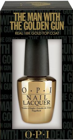 Possibly the most exciting launch of the year .... OPI James Bond Man With The Golden Gun nail polish top coat