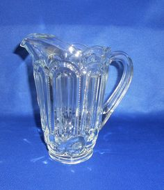 LE Smith Crystal Moon & Star 2 1/2 Pint Pitcher by WeBGlass on Etsy