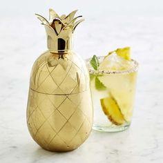 Gold Pineapple Cocktail Shaker #williamssonoma
