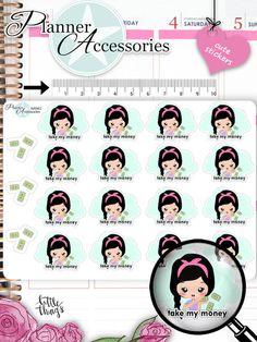 Sticker - Take My Money Sticker NR962 - ein Designerstück von PlannerAccessories bei DaWanda