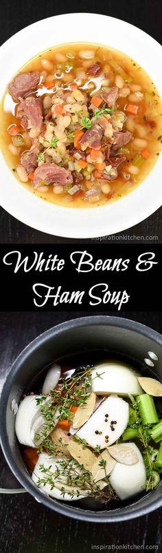 White Beans & Ham Soup | Inspiration Kitchen