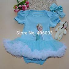 Baby Girl  frozen tutu party princess 3-6m set UK SELLER