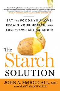 The Starch Solution by John A. McDougall, M.D.  I love his explanation about the problems with animal protein.  The most in depth comprehensive, researching reasoning I have read thus far.