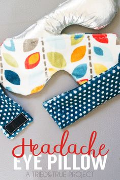 Use the free pattern to make this Weighted Headache Eye Pillow for instant relief!