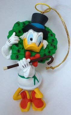 Walt Disney Donald Duck Scrooge Grolier Collectible Christmas Ornament 26231 213