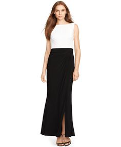 RALPH LAUREN  Women's Black Sequined Sleeveless Gown. Taille 42. REF 2244.
