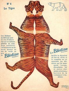 "bledine tigre by pilllpat (agence eureka), via Flickr. Advertising folding-cutting offered by ""The Blédine"""