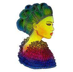 Rainbow Power Girl! by LuNa Portnoi.Marcovsky, via Flickr http://www.lunaportnoi.com.ar/