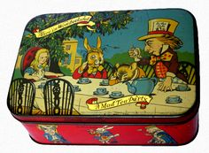 Alice in Wonderland Toffee Tin: R S McColl Confectioners (England), 1925