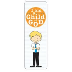 #LDS #Mormon -  LDS I Am a Child of God Bookmark for Boys- Primary Gift, Baptism Gift - 2013 Primary Theme / http://www.mormonslike.com/lds-i-am-a-child-of-god-bookmark-for-boys-primary-gift-baptism-gift-2013-primary-theme/