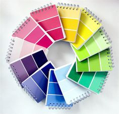 Paint sample notebook