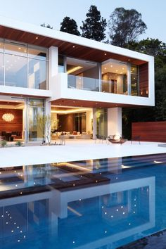 Most Design Ideas Modern Exterior Home Ideas Pictures, And Inspiration – Modern House Design Exterior, Modern Exterior, Modern Paint Colors, Modern Mansion, Bungalows, Pool Designs, Modern House Design, Luxury Real Estate, Home Fashion