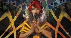 Red the Singer - concept art from Transistor