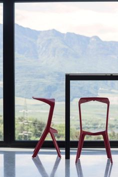 MIURA stools at Weingut | Tenuta PFITSCHER in Montagna, Italy. Architect: Arch. Achim Meran Photography: Luca Meneghel    http://www.plank.it/product/miura-stool/