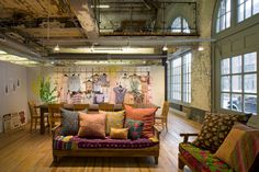 Urban Outfitters Corporate Campus by decor8, via Flickr. Philadelphia, PA. Located in the navy yard in 5 historic industrial buildings.