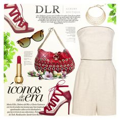 """""""Elegant Summer DLR - LUXURY BOUTIQUE"""" by gorgeautiful ❤ liked on Polyvore featuring Jimmy Choo, Tamara Mellon, Robert Lee Morris, Clinique, Sonia Rykiel, dlr and dlrboutique"""