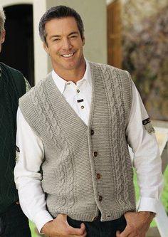 ideas for knitting men cardigan free pattern yarns Gents Sweater, Mens Knit Sweater, Knit Jacket, Men Cardigan, Baby Knitting Patterns, Knitting Designs, Crochet Men, Knit Vest Pattern, Pulls