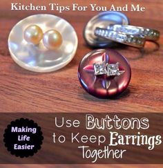 Practical Life Tips For You And Me: #Keeping #Earrings #Together