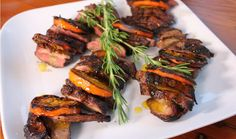 duck breast w/ griddled orange slices . Hilary Biller (The Home Channel) Roast Gammon, Duck Recipes, Beach Picnic, Orange Slices, Watermelon, Breast, Beef, Meals, Baking