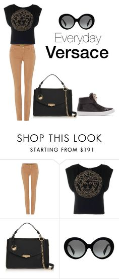 """Everyday Versace"" by kongiren ❤ liked on Polyvore featuring Versace, women's clothing, women's fashion, women, female, woman, misses and juniors"