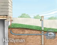 How to Install an Outdoor Faucet - extend the existing outdoor faucet to where the water is needed.