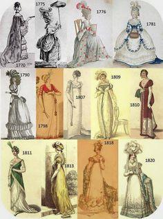 There were so many styles in the Georgian era. these are-Es gab so viele Stile in der georgianischen Zeit. Dies sind einige There were so many styles in the Georgian era. 1800s Fashion, 18th Century Fashion, Victorian Fashion, Vintage Fashion, French Fashion, 19th Century, Old Dresses, Vintage Dresses, Vintage Outfits